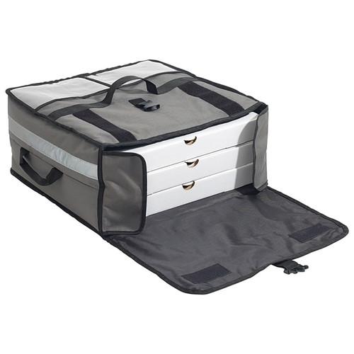 "Winco BGPZ-2109 WinGo Bag Pizza Bag, 21"" x 21"" x 9"", (3) 18"" Boxes, Gray"
