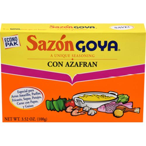 Sazon Goya Con Azafran, 3.52 Ounces