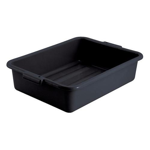 """Winco PL-5K Dish Box, 20-1/4"""" x 15-1/2"""" x 5"""", Black, 1-Compartment"""