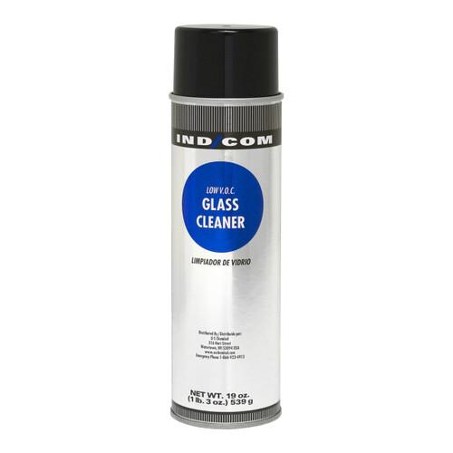 IND/COM Aerosol Glass Cleaner, Non-Ammoniated, 19 Oz