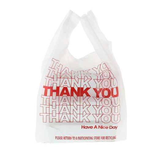 Royal 11.5 Inch X 6.5 Inch 21 Inch 12 Mic Thank You Bag, 1000/Case