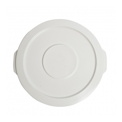 Janico 1044-02WH White Round Container Lid for 44 Gallon Garbage Can