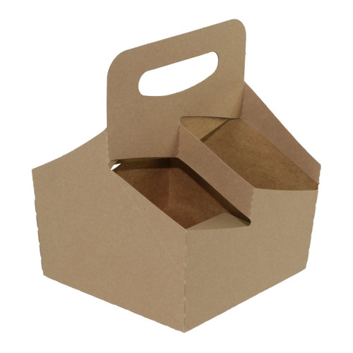 Boxit 7710C-501 4-Cup Kraft Drink Carrier (100/Case)