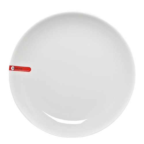 "MIYA X15029 White Round Porcelain Plate, 10.5"" x 1.25""H"