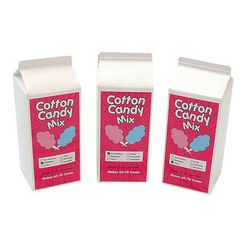 Winco 82003 Cotton Candy Sugar Floss, 3.25 lb., Cherry
