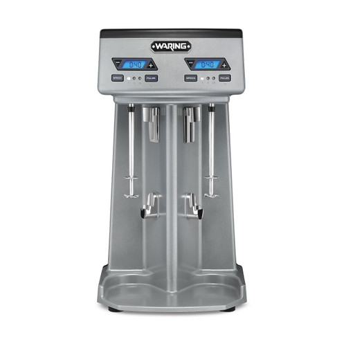 Waring WDM240TX Heavy-Duty Double-Spindle Drink Mixer with Timer