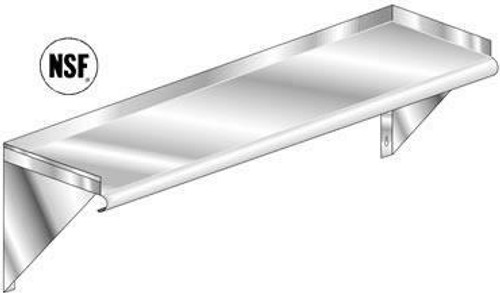 """KCS WSSL1884 Stainless Steel Wall Shelf with Splashes, 18"""" x 84"""""""