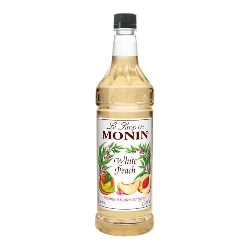 Monin White Peach Syrup, 1 Liter