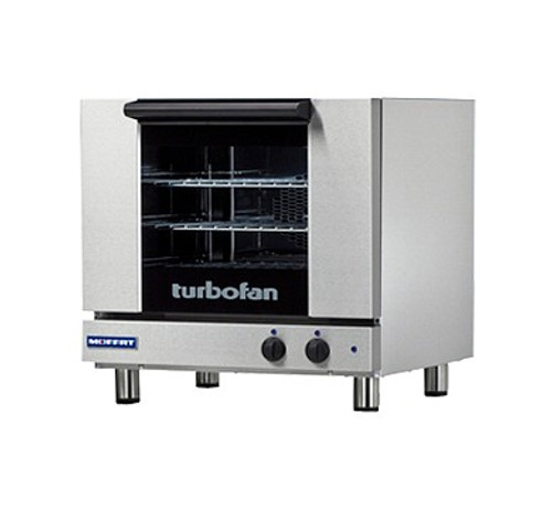 Moffat E23M3-P 3 Tray Half Size Electric Convection Oven, Manual Control, 208V