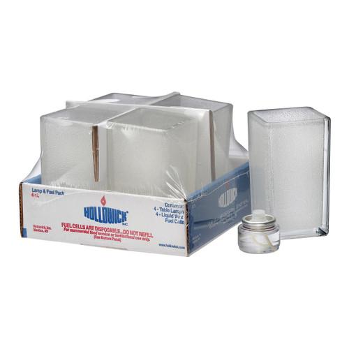 Hollowick 6109CJ-4 Lamp & Liquid Fuel Cells, Quad, Clear (4/Pack)
