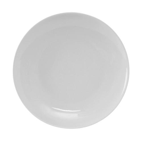 """Tuxton VPA-090 Round Plate, 9"""", R.E. Porcelain White, 24/Case"""