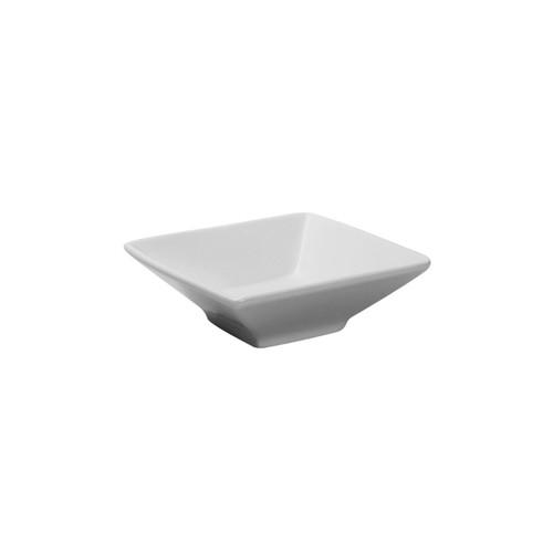 "Tuxton BPB-065P Square Mini Bowl, 6.5 oz., 4-3/4"", White, 24/Case"