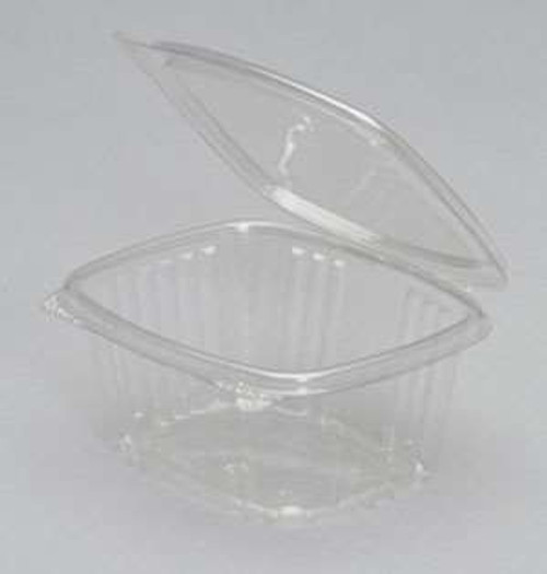 Genpak AD16 16 Oz. Clear Hinged Deli Container, 200/Case