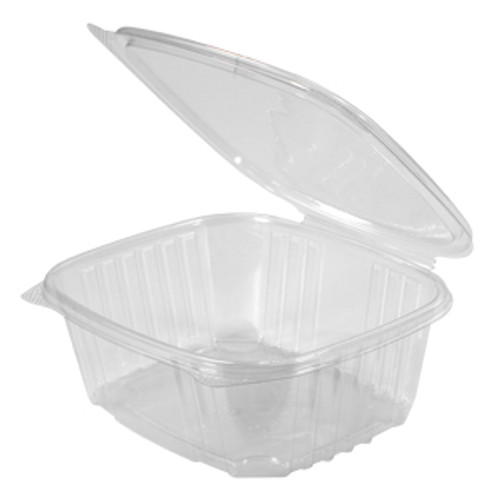Genpak AD32 32 Oz. Clear Hinged Deli Container, 200/Case