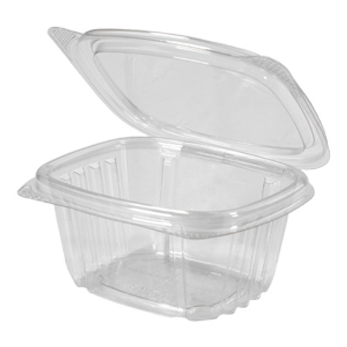 Genpak AD06 6 Oz. Clear Hinged Deli Container, 400/Case