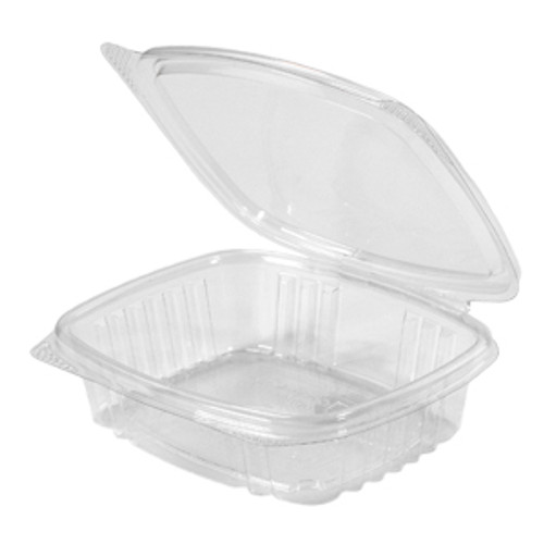 Genpak AD08 8 Oz. Clear Hinged Deli Container, 200/Case