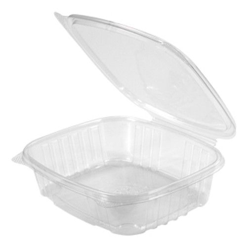 Genpak AD24 24 Oz. Clear Hinged Deli Container, 200/Case