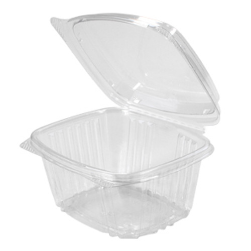 Genpak AD16F 16 Oz. Clear Hinged High Dome Deli Container, 200/Case