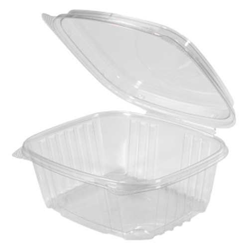 Genpak AD32F 32 Oz. Clear Hinged High Dome Deli Container, 200/Case