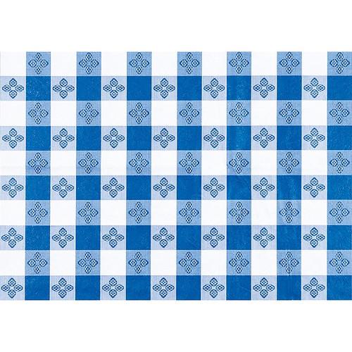 """Winco TBCO-70B Blue Checkerboard Table Cloth, 52"""" x 70"""""""