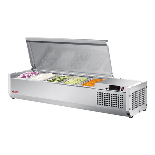 """Turbo Air CTST-1200-N 47"""" Counter Top Salad Table Refrigerator, 115V"""