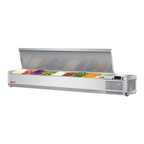 """Turbo Air CTST-1800-N 70"""" Counter Top Salad Table Refrigerator, 115V"""