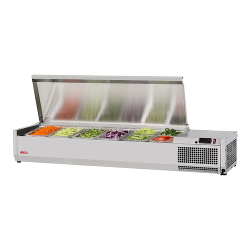 """Turbo Air CTST-1500-13-N 59"""" Counter Top Salad Table Refrigerator, 115V"""