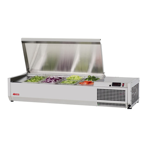 """Turbo Air CTST-1200-13-N 47"""" Counter Top Salad Table Refrigerator with Clear Hood, 115V"""