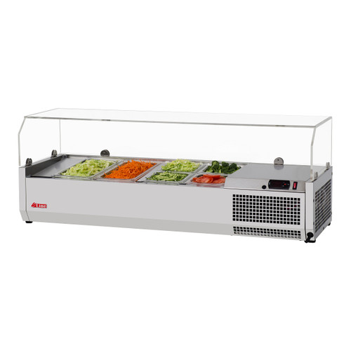 """Turbo Air CTST-1200G-13-N 47"""" Counter Top Salad Table Refrigerator with Clear Hood, 115V"""