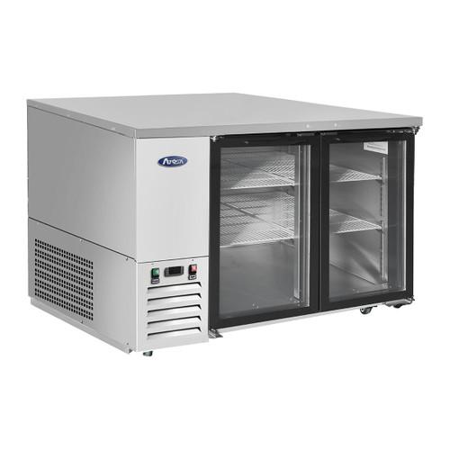 "Atosa SBB48GGRAUS1 48"" Shallow Depth Double Glass Door Back Bar Cooler"