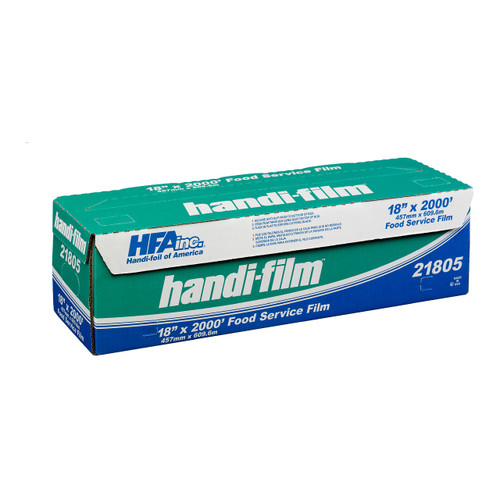 "Handi-Foil 21805-S 18"" x 2000' Plastic Film Wrap Roll with Slide Cutter"