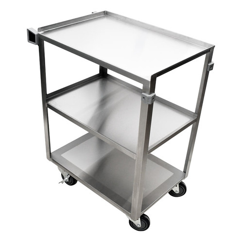 """Omcan CART-3S1624B-418 27.5"""" Stainless Steel Welded Utility Cart"""