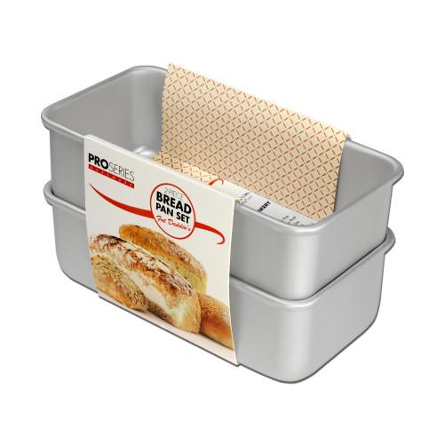 Fat Daddio's BP-SET Anodized Aluminum Bread Pan Set (2-Piece Set)