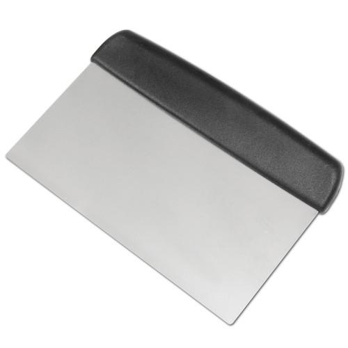"Fat Daddio's BP-57 Stainless Steel Bench Scraper, 5"" x 7"", Black Handle"