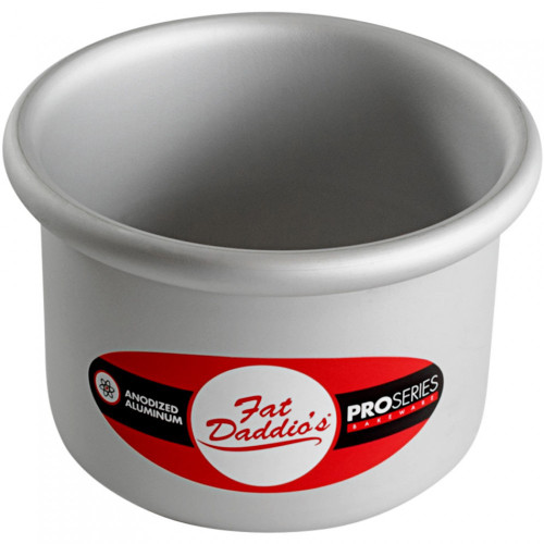 "Fat Daddio's PRD-43 Round Cake Pan, 4"" x 3"""