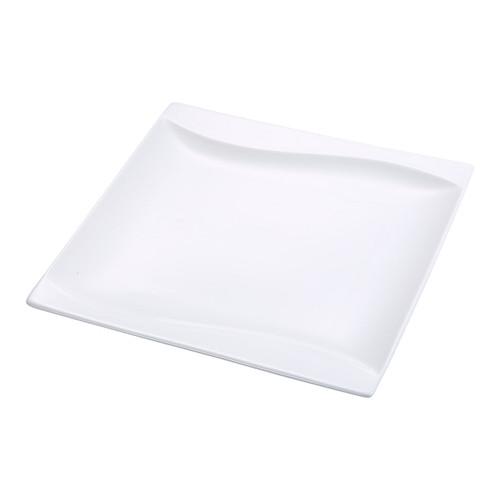 "Yanco SW-108 8"" Square Plate, Porcelain, Bone White (36/Case)"