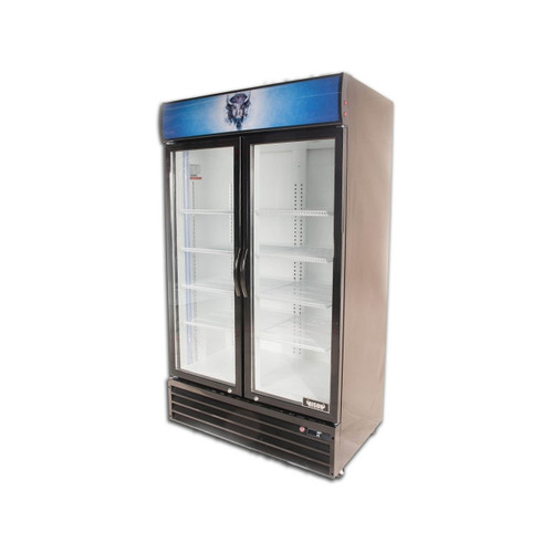 Bison BGM-35 2 Door Glass Reach-In Refrigerator (BGM-35)