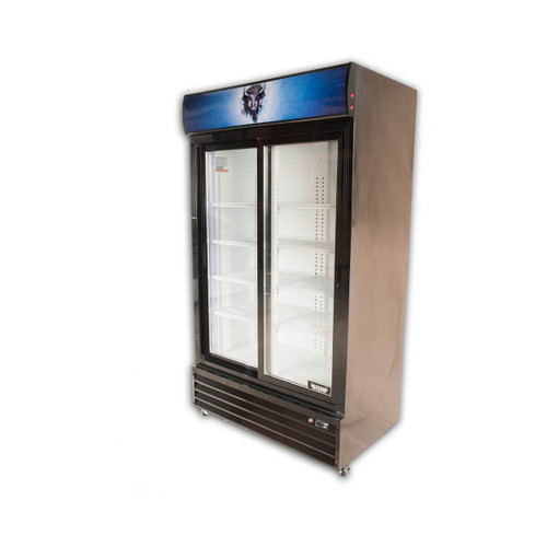 Bison BGM-35-SD 2 Door Glass Reach-In Refrigerator (BGM-35-SD)