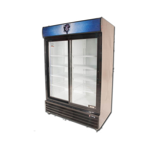 Bison BGM-49-SD 2 Door Glass Reach-In Refrigerator (BGM-49-SD)