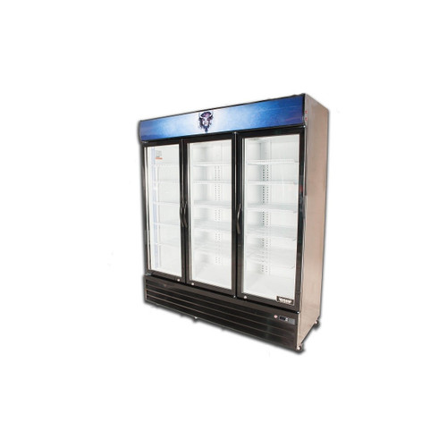 Bison BGM-53 3 Door Glass Reach-In Refrigerator (BGM-53)