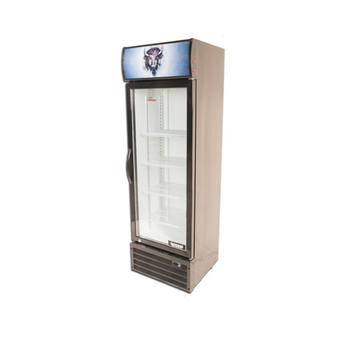 Bison BGM-8 1 Door Glass Reach-In Refrigerator (BGM-8)
