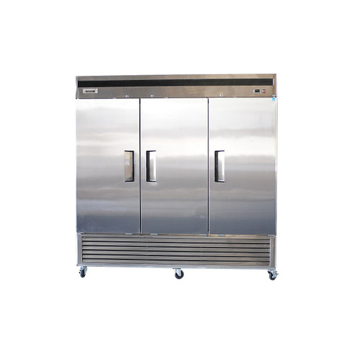 Bison BRR-71 3 Door Stainless Reach-In Cooler (BRR-71)