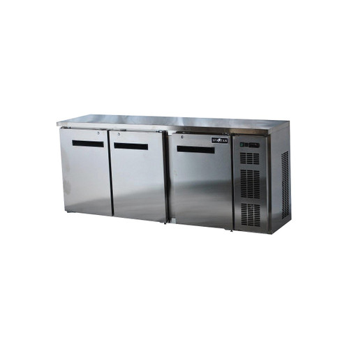 "Spartan SSBB-79-SL 79"" Back Bar Cooler, Stainless Steel (SSBB-79-SL)"