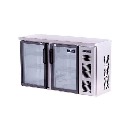 "Spartan SSGBB-58-SL 52"" Back Bar Cooler, Stainless Steel, Glass Door (SSGBB-58-SL)"