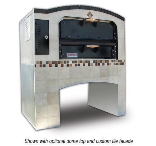 """Shop Marsal MB-236-2-NG 52"""" Brick Lined Gas Oven, Natural Gas, Stacked"""