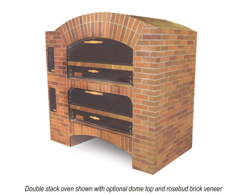 """Shop Marsal MB-60-2-LP 80"""" Brick Lined Pizza Oven, Propane Gas, Stacked"""