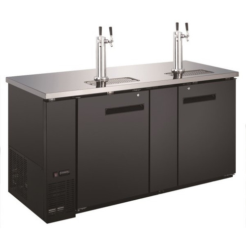 """Adcraft USBD-6928/2 69"""" Beer Dispenser with 2 Tap Tower - 3 Keg"""