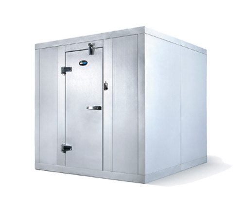 "Amerikooler QC060677**FBRC Walk-In Cooler, Modular, Remote, With Floor, Indoor, 6'W x 6'Lx 7'-7""H, 1/2 HP"