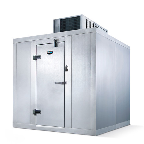 "Amerikooler QC060877**FBSC Walk-In Cooler, Modular, Self-Contained, With Floor, Indoor, 6'W x 8'Lx 7'-7""H, 1/2 HP"