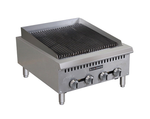"Adcraft BDCTC-24 24"" Heavy Duty Radiant Gas Countertop Charbroiler - 4 Burners - 80K BTU"